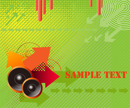 Speaker arrow points vector material