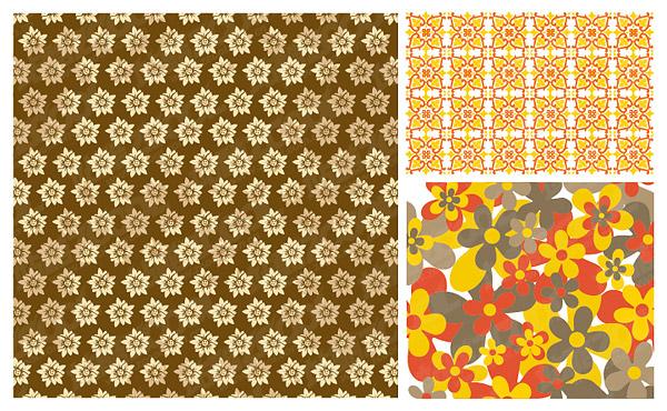 practical flower pattern vector background
