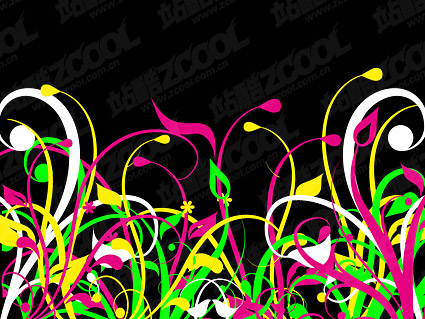 The grass color vector material