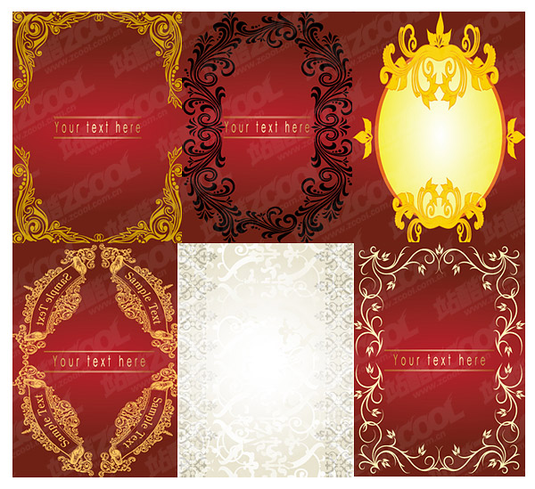 lace border vector material