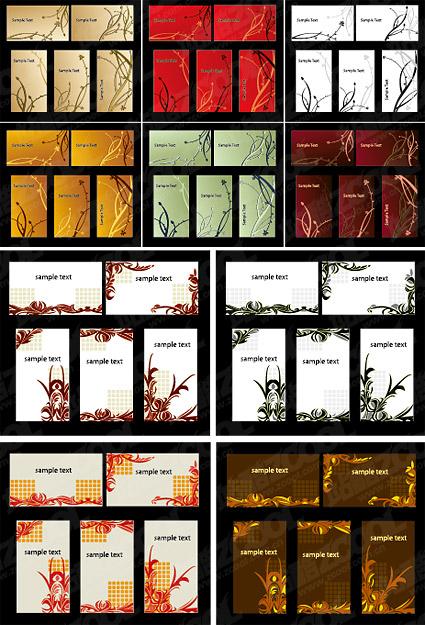 Fashion pattern card templates