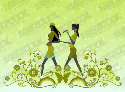 Vector material girl friendship