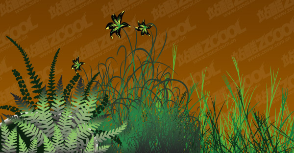 flowers vector material