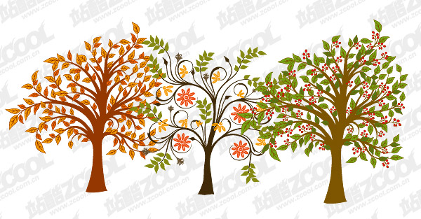 trees vector material
