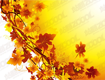 In the fall of the rattan plant material vector