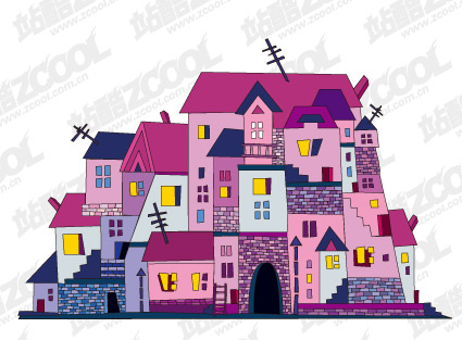Vector illustration house material