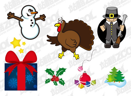 Christmas icon with the vector illustration material