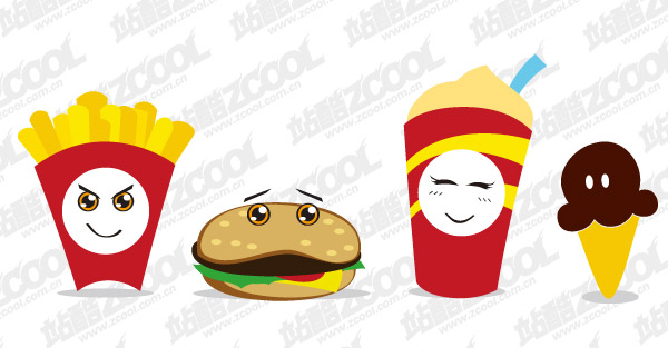 Food and drink lovely vector material