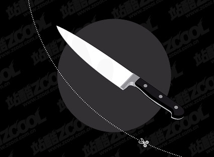 Stainless steel knife vector material