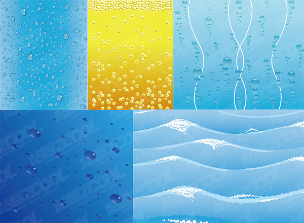 water-related vector background material