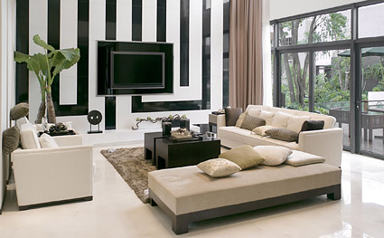 Stylish living room picture material
