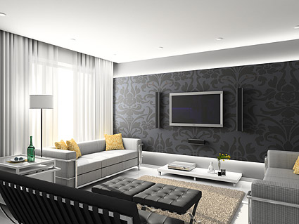 Beautiful home interior picture material-2