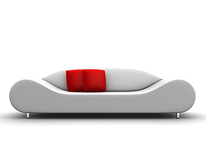 3d produced sofa picture material