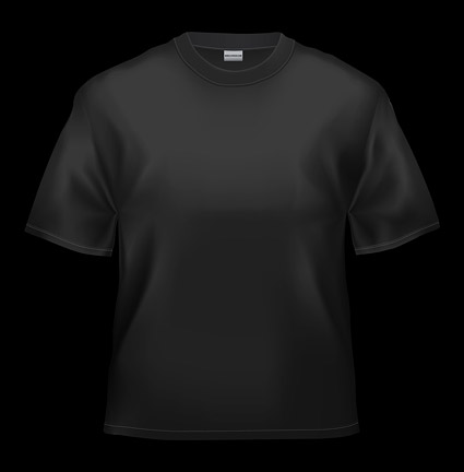 Blank black T-shirt picture material