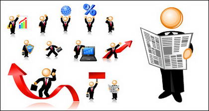 Business Person of the icon image of the vector material