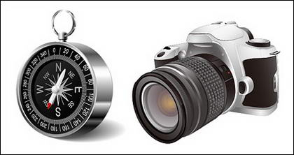 Digital SLR and the compass vector material