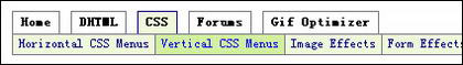 CSS horizontal navigation bar-9