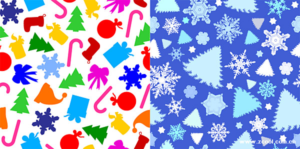 lovely Christmas vector background material