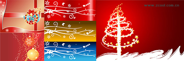festive Christmas vector illustration material