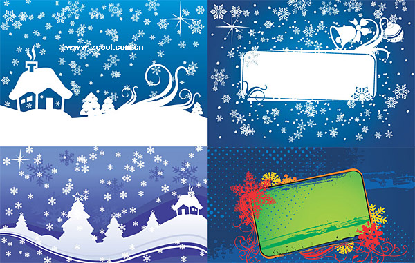 Christmas vector background material