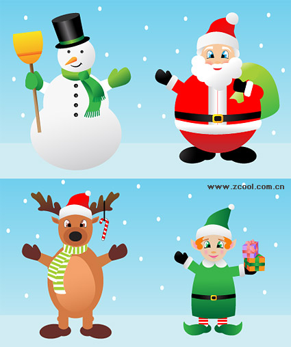 Cute cartoon Christmas