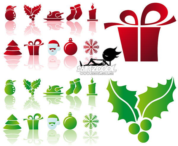 Simple Christmas icon vector material