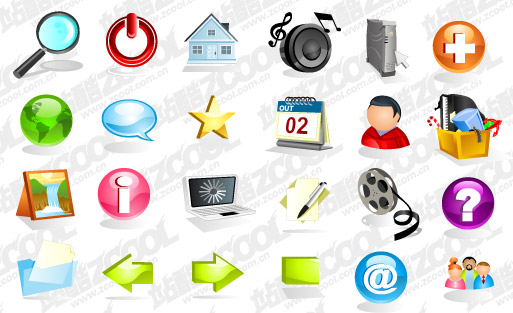 Crystal practical three-dimensional vector icon material