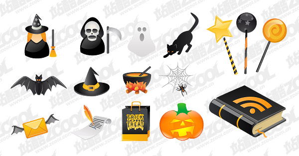 Halloween icon vector material
