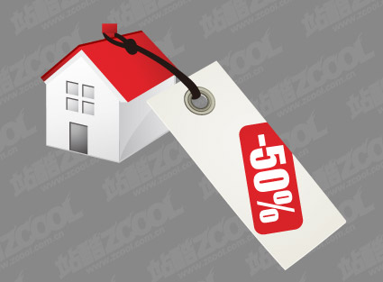 House sales price vector material