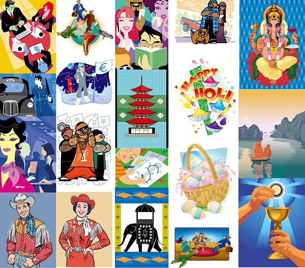 Earth, books, hiphop, cars, elephants, sailing