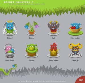 Basket Monsters icons