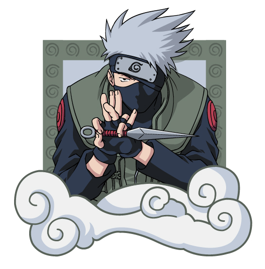 Naruto characters Vector material -4