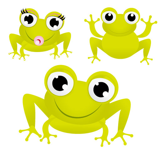 The green frog with big eyes Vector