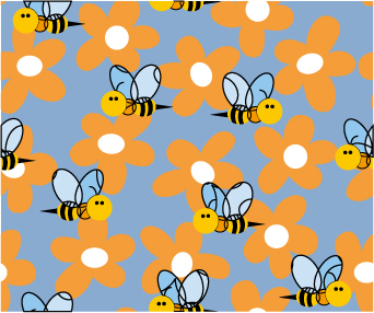 Bee flowers Vector