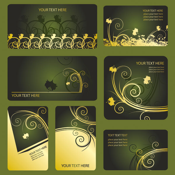 Material pattern card template vector