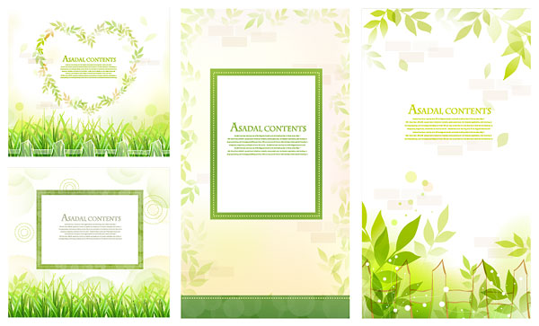 Leaves, grass lace vector