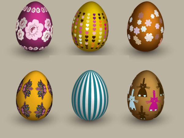 6 eggs Vector material