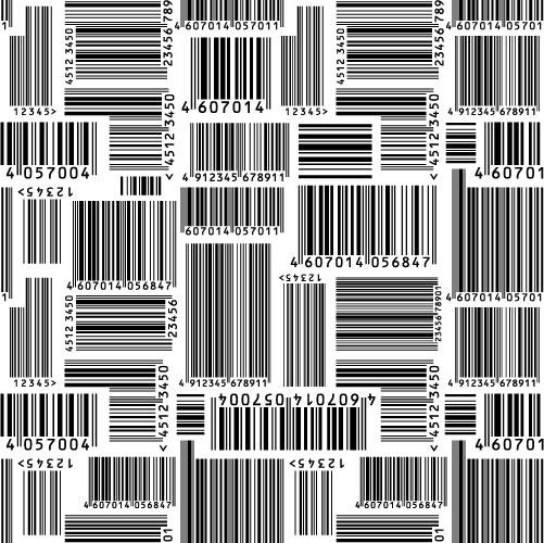 Bar code vector material