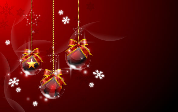 Christmas hanging ball Vector material