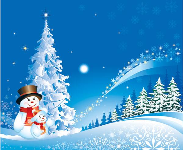 Christmas Snowman Snow Vector material
