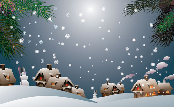 Snow Vector material -1