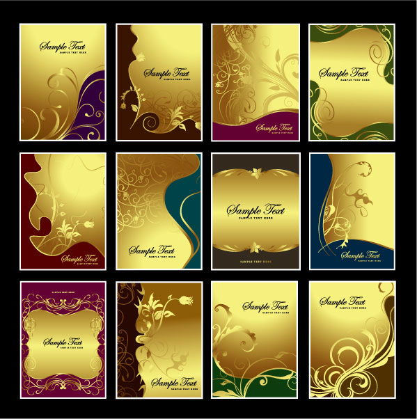 The theme of the golden pattern vector material