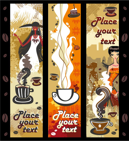 Women and Coffee vector