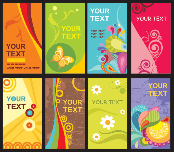 The trend of card template vector