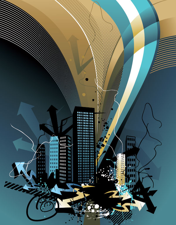 Architectural Series Vector material -12