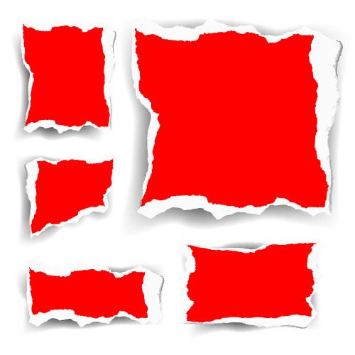 Red shredding Vector