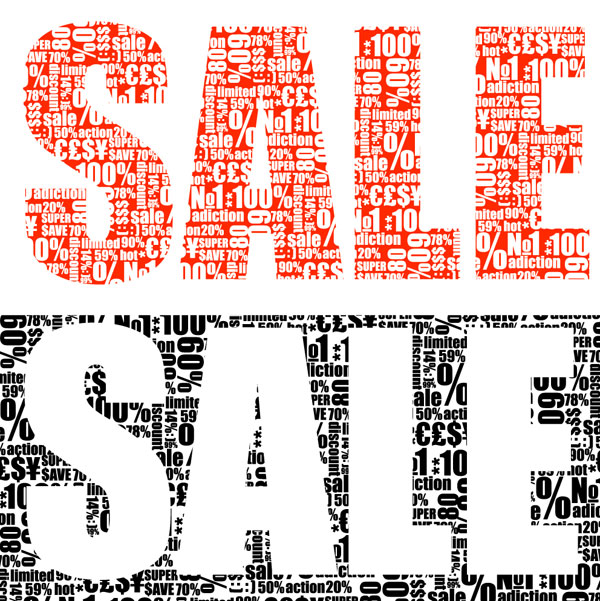 Vector sale material