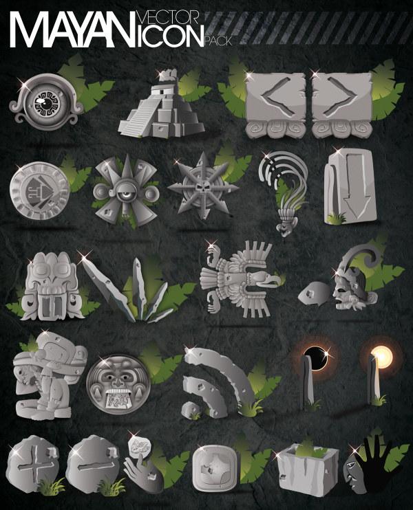 Mayan pyramids, eclipse, statue