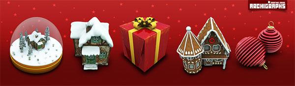 House, gifts, crystal ball, hanging ball