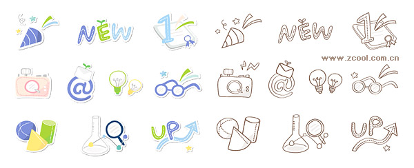 Cute icon series vector material-5